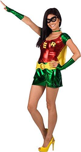 Sexy Superhero-Kostüm FEMALE ROBIN, Größe:XS/S
