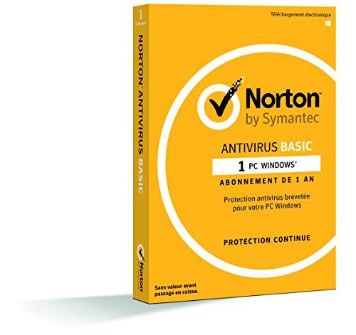 Norton Basic 2018 - Antivirus 1 an pour PC, compatible avec Windows XP et...