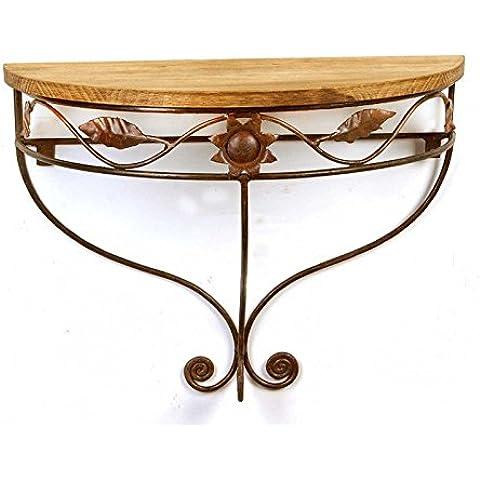 Consola forja y madera estilo marroquíConsola forja y madera estilo marroquí