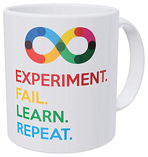 ef83b140f7b PotteLove Experiment Fail Learn Repeat Funny Coffee Mug,Personalized Add  Your Custom Text and Photo