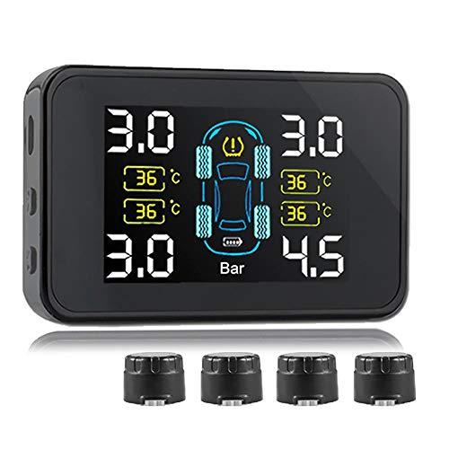 TPMS-Reifendruckkontrollsystem Eingebaute & Externe Sensoren Solar-Ladeautomatik für automatische Schaltanlage und 4 einstellbare Sensoren für alle Modelle von 6.8Bar und darunter