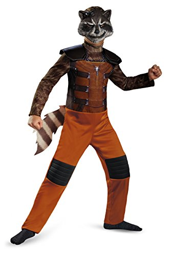 Kinder Rocket Raccoon Kostüme Maske (Disguise Costumes - 73402 - Guardians of the Galaxy - Kinder Kostüm - Größe S / 4-6 - Rocket Raccoon - enthält Anzug/Jumpsuit &)