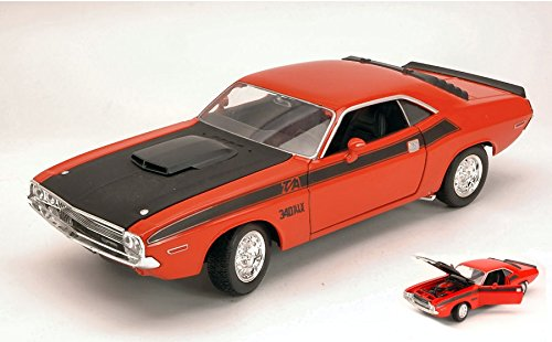 dodge-challenger-t-a-1970-orange-black-124-welly-auto-stradali-modello-modellino-die-cast