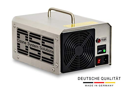 OSS Ten O3 Plus mit UV-Licht | UV Ozongenerator mit 10000 mg/h bzw. 10 g/h Ozonleistung | Deutsche Qualität und Telefonsupport | Entfernt zuverlässig Gerüche z.B. Brand-, Zigarettengerüche usw.