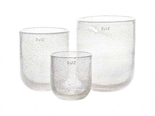 DutZ Vase, clear bubbles (H23 D19)