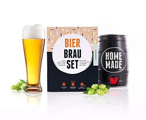 Bierbrauset zum selber brauen   Weißbier im 5L Fass   In 7 Tagen gebraut   Tolles Geburtstagsgeschenk aus München Bayern   von Braufässchen
