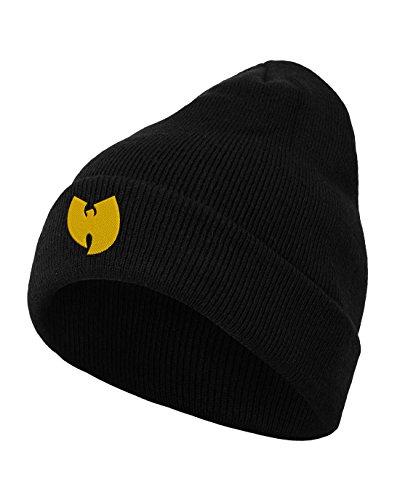 Wu Wear Logo Beanie Kappe, Black, one Size