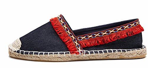 Senhoras Chinelo Moer ons Slip Sapatos Borla Vermelho Alpercatas Clássicos Loafer Plana rwrIUF