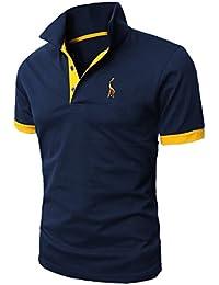 STTLZMC Poloshirts Herren Basic Kurzarm Polohemd M-XXL