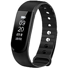 OMorc Pulsera Actividad y Monitor de Ritmo Cardiáco, Resistente al Agua y Bluetooth 4.0, Podómetro, Monitor de Sueño, Control Remoto de Móvil para iOS y Android