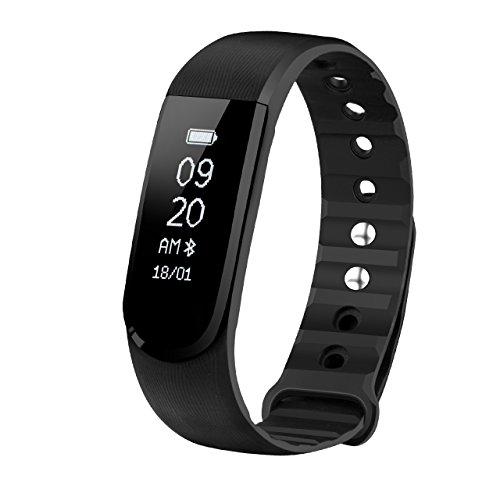 Pulsera de Actividad Física y Ritmo Cardiáco de Omorc, Resistente al Agua y Bluetooth 4.0, Podómetro, Monitor de Sueño, Control Remoto de Móvil para iOS y Android