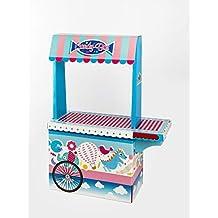 Candy Bar con Bandeja Vacío La Asturiana - Carrito de Mesa Dulce en Cartón Publicidad de