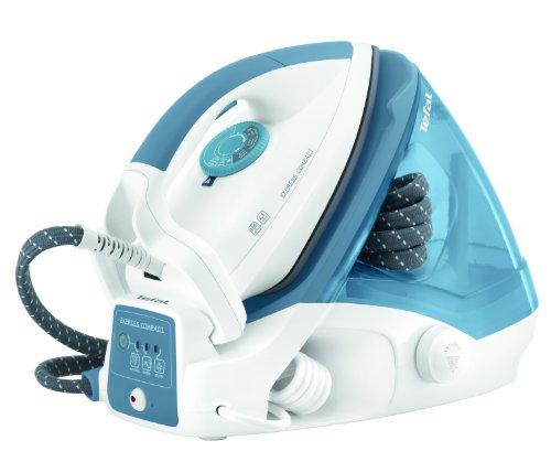 Ferro da stiro a caldaia Tefal GV7310 Express Compact, colore bianco e azzurro