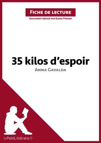 35 Kilos Despoir Danna Gavalda Fiche De Lecture Résumé Complet