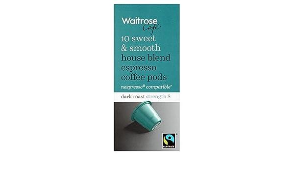 Waitrose House Blend Espresso Coffee Pods 10 Per Pack