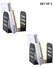 Callas Premium Bookend, Set of 2 Pair with Anti-Skid Pads, Black, Cy255