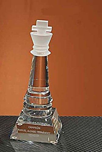 Trofeo de Ajedrez Rey de Cristal Óptico 165x70x70mm GRABADO Trofesport Trofeos PERSONALIZADOS