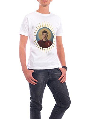 """Design T-Shirt Männer Continental Cotton """"Ikone Gerrard"""" - stylisches Shirt Sport / Fußball Menschen von David Diehl Weiß"""