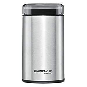 Rommelsbacher EKM 100Electric Coffee Grinder with striking Knife, Stainless Steel, 9.4x 9.5x 17.8cm