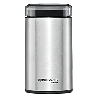 Rommelsbacher EKM 100 Electric Coffee Grinder with striking Knife, Stainless Steel, 9.4 x 9.5 x 17.8 cm