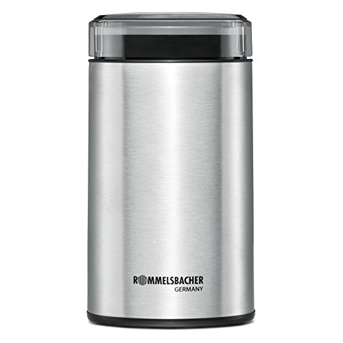 Rommelsbacher EKM 100 elektrische Kaffeemühle mit Schlagmesser aus Edelstahl (200 W, 70g...