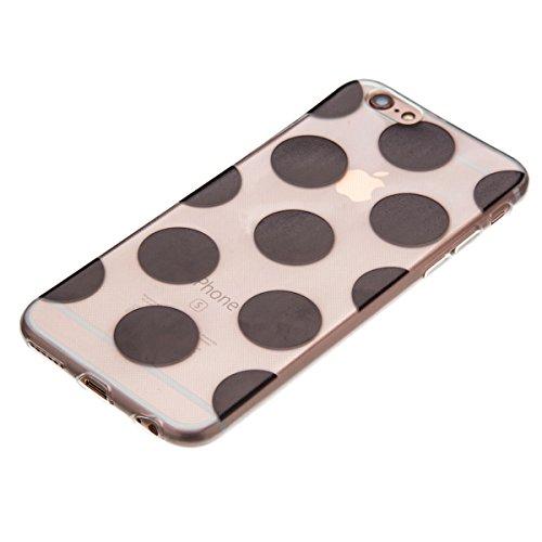 iPhone 6S Plus Coque,iPhone 6 Plus Bling Case,iPhone 6S Plus Cover - Felfy Ultra Mince Slim Gel TPU Silicone élégant Ultra Thin Bling Plating Case Coque Bumper Cas Housse pour Apple iPhone 6 Plus /6S  Noir
