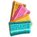 Cotton Colors 300 GSM 4 Piece Cotton Hand Towel Set - Multicolor_D2