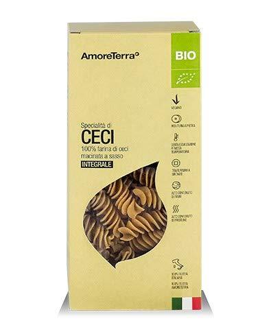 Amoreterra pasta proteica di legumi Trucioli di ceci Bio 250g, artigianale, biologica, trafila al bronzo, essiccata bassa temperatura, da farina a pietra, vegan