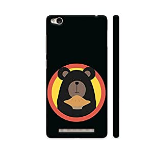 Colorpur Grizzly with Cake in Circle Printed Back Case Cover for Redmi 3S