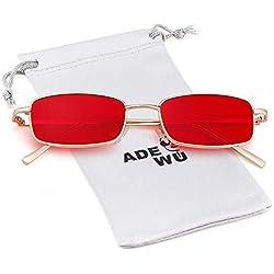 ADEWU Gafas de sol cuadradas gafas retro de moda para mujeres hombres