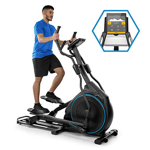 Capital Sports Helix Star DR Orbital Cross Trainer - Home Trainer, Kinomap App Support, Bluetooth, Flywheel: 27 kg, 32-Level Magnetic Resistance, Heart Rate Monitor, Training Computer, Black