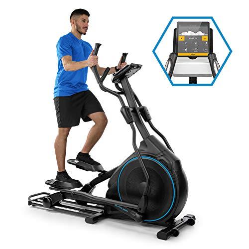 Capital sports helix star dr - orbital crosstrainer, cyclette, supporto app kinomap, bt, volano: 27 kg, resistenza magnetica 32 livelli, cardiofrequenzimetro, computer da allenamento, nero