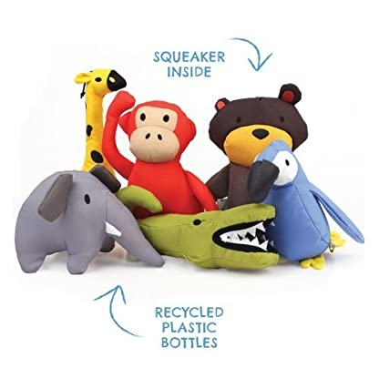 Beco Soft Toy - Michelle the Monkey made from Recycled Plastic Bottles - Toy for Dogs with Squeeker - M 3