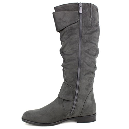 Cendriyon Botte Velours Gris Bello Star Chaussures Femme Gris
