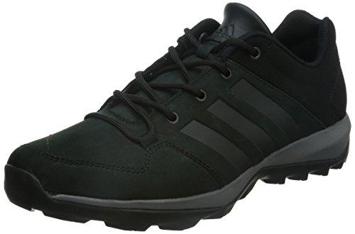 adidas Daroga Plus Lea, Scarpe da Escursionismo Uomo Nero (Negbas/Granit/Negbas)