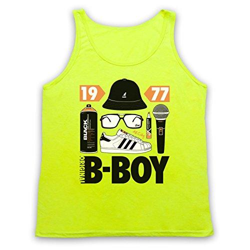 Original B-Boy Breakdancing Slogan Tank-Top Weste Neon Gelb