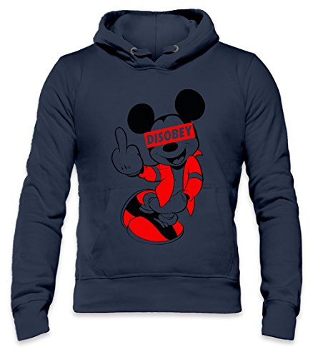DISOBEY Mickey Mouse Mens Hoodie Large