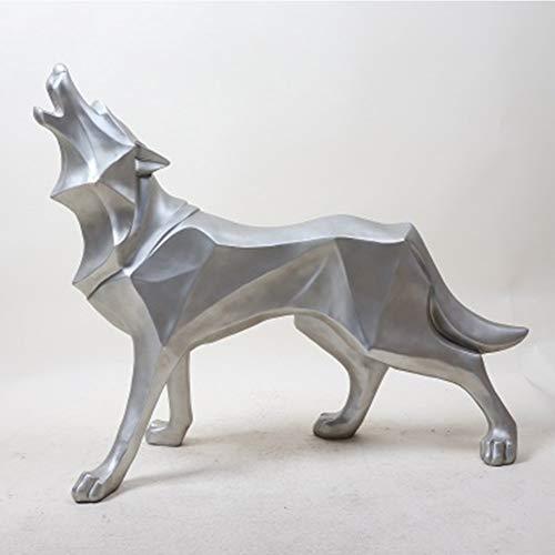 CLSNH Animales Escultura Decoración Lobo Estatuas