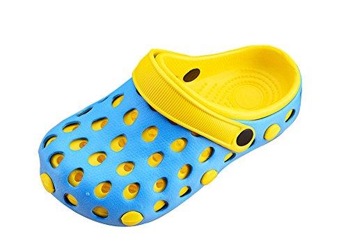 Genda 2Archer Unisex Adulto EVA Scarpe da Spiaggia Scarpe Estive Giallo Blu Luce