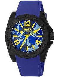 Watx RWA1807 - Reloj con correa de caucho para hombre, color azul / gris