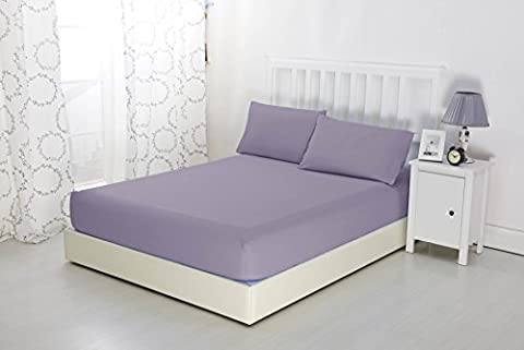 Premium Non Iron Soft Microfibre Fitted Sheet by Sonia Moer (Single, Lavender)