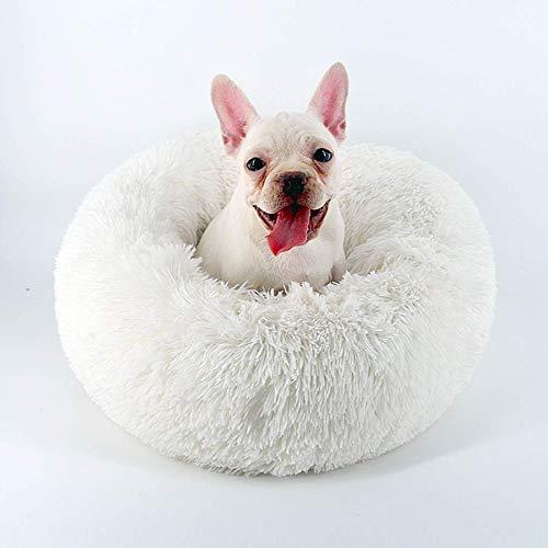 Segle Deluxe weiches Haustierbett, Schlafbett für kleine, mittelgroße und große Hunde, selbstwärmendes Katzen- und Hundebett, rund, Donut-Nisthöhle -