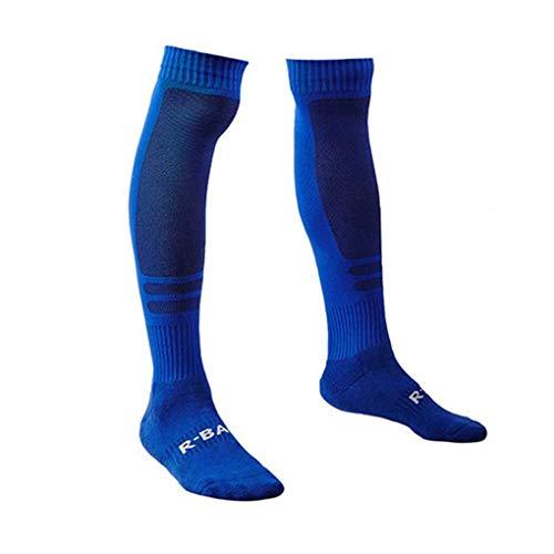 Ruiboury R-BAO Jacquard Männer Knee High Elastic Sports Socken atmungsaktiv Fußballtraining Fitness Lange Socken -