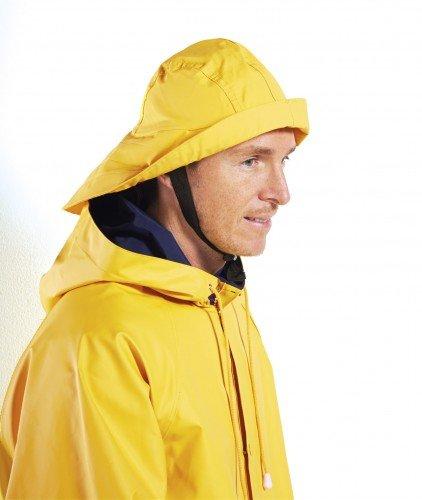 Modas Südwester aus PVC mit Innenfutter, Farbe:gelb, Größe:M