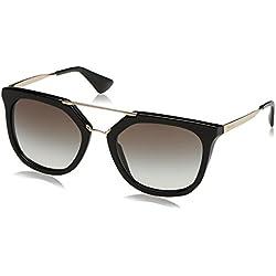 Prada 0Pr13Qs 1Ab0A7 54 Montures de Lunettes, Noir (Black/Grey Gradient), Femme