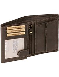 Portefeuille pour homme et femme Vintage-Style format portrait LEAS MCL, cuir véritable, marron - ''LEAS Basic-Vintage-Collection''