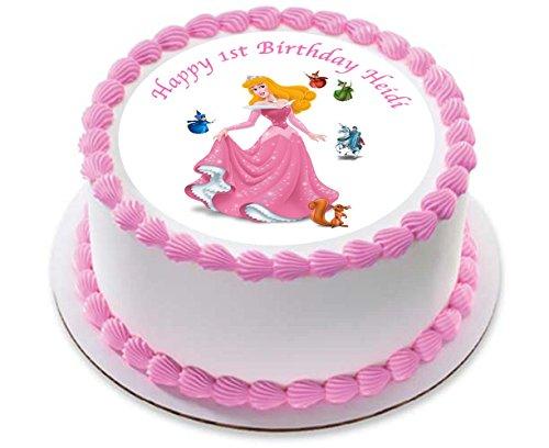 Aurora Sleeping Beauty princesse Décoration pour gâteau personnalisée Glaçage Sucre Papier 19,1 cm