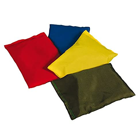 Kids Outdoor Nylon Cover Rubber Chip Filled Bean Bags Pack of 12 - 3 Each Colour