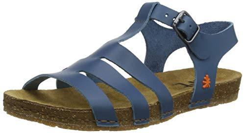 Art 1254 Becerro Jeans/Creta, Sandali Punta Aperta Donna, Blu, 38 EU