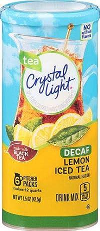 Crystal Light Tea Decaf Lemon Iced Tea Made with Black Tea 42.5g